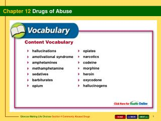 Content Vocabulary