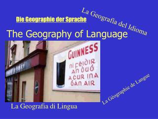 The Geography of Language