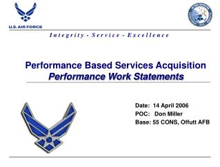 Performance Based Services Acquisition Performance Work Statements