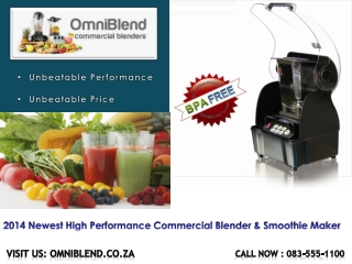 2014 Newest High Performance Commercial Blender
