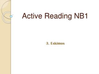 Active Reading NB1