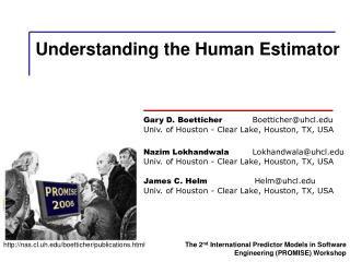 Understanding the Human Estimator