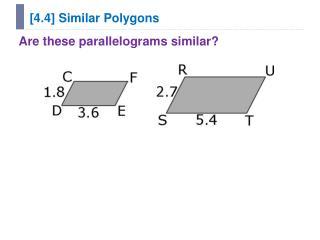 [4.4] Similar Polygons