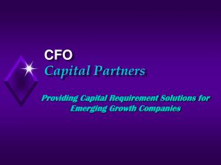 Providing Capital Requirement Solutions for Emerging Growth Companies