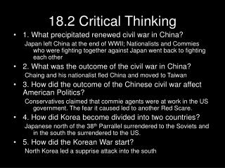 18.2 Critical Thinking