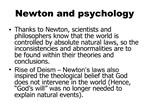 Newton and psychology