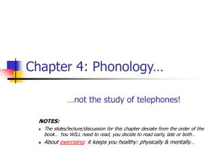 Chapter 4: Phonology…