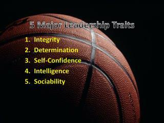 5 Major Leadership Traits