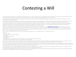 Contest a will Sydney