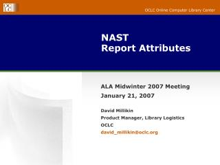 NAST Report Attributes