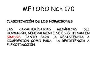 METODO NCh 170