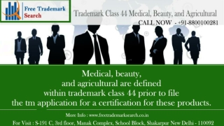 Trademark Class 44 | Medical, Beauty, and Agricultural