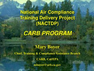 National Air Compliance Training Deliy Project (NACTDP) CARB Program ver