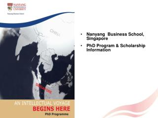 Nanyang  Business School, Singapore PhD Program & Scholarship Information