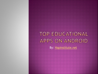 Top Educational Apps on Android