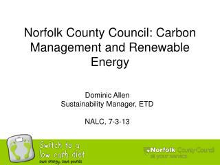 Norfolk County Council: Carbon Management and Renewable Energy