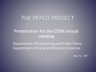 the Pepco project
