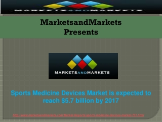 Market Research report on Sports Medicine Market by Products