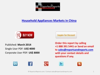 China Household Appliances Market by 2018 Economic Trends
