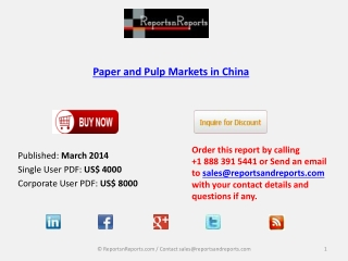 China Paper and Pulp Market Global Research Report