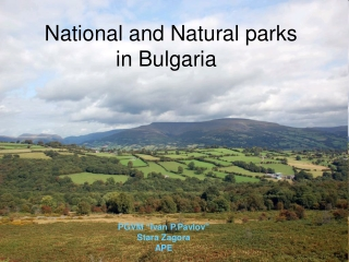 National and Natural parks in Bulgaria