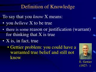 Definition of Knowledge