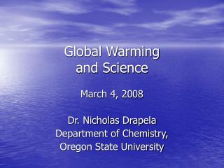 Global Warming and Science