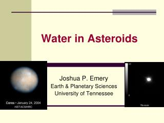 Water in Asteroids