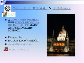 WORLD HERITAGE  IN  HUNGARY