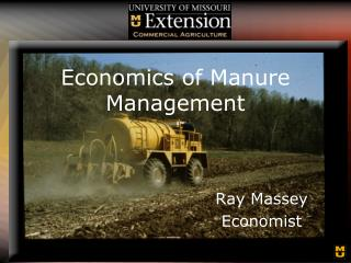 Economics of Manure Management