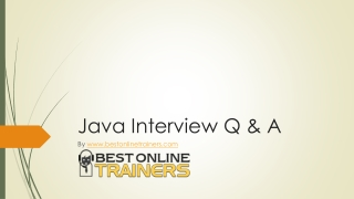 Java Interview Questions - Answers