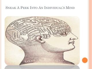 Sneak A Peek Into An Individual