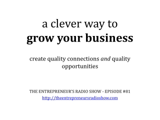 A Clever Way to Grow Your Business