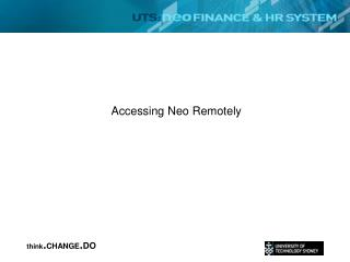 Accessing Neo Remotely