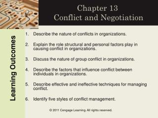 Chapter 13 Conflict and Negotiation