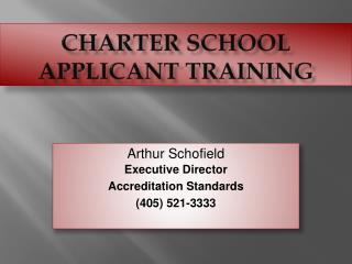 Charter School Applicant Training
