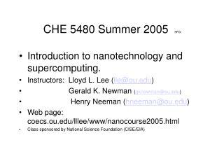 CHE 5480 Summer 2005 5FG