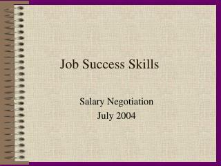 Job Success Skills