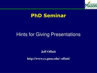 PhD Seminar