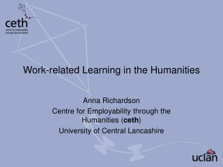 Work-related Learning in the Humanities