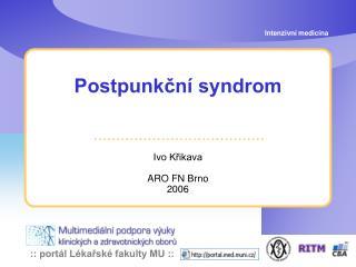 Postpunkční syndrom