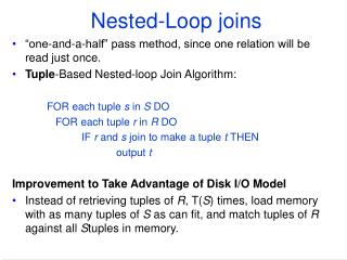 Nested-Loop joins