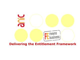 Delivering the Entitlement Framework