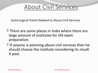 Steps of About civil services