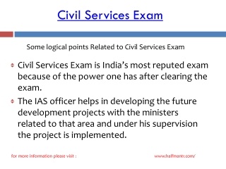 Stps of Civil Services Exam