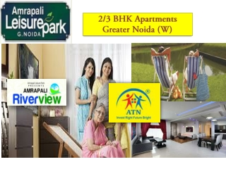 Invest in Amrapali Riverview Flats in Greater Noida West at