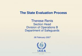 The State Evaluation Process
