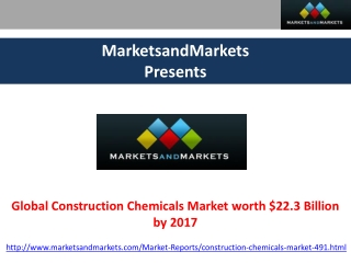 Global Construction Chemicals Market Analysis by MarketsandM