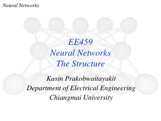 EE459 Neural Networks The Structure