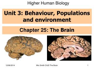 Unit 3: Behaviour, Populations and environment